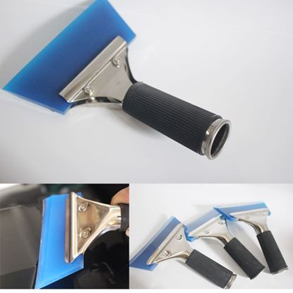 Picture of 1PC Blue Razor Blade Scraper Water Squeegee Tint Tool for Car Auto Film For Window Cleaning Newest Dropping Shipping