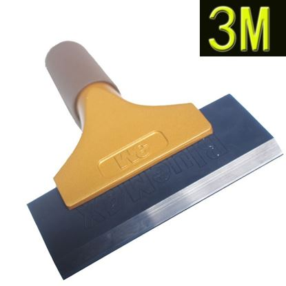 Picture of Rubber blade 3M gold handle scraper Water Squeegee Tint Tool for Car Auto