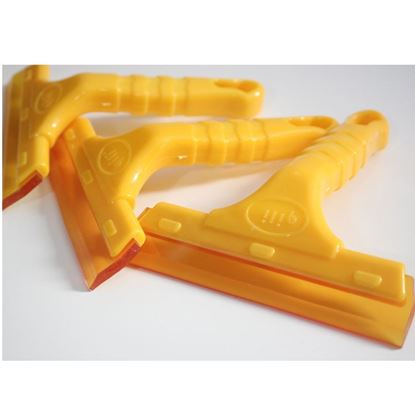 Picture of Yellow Car Plastic Nonslip Handle Glass Wiper Tint Water Squeegee Tool