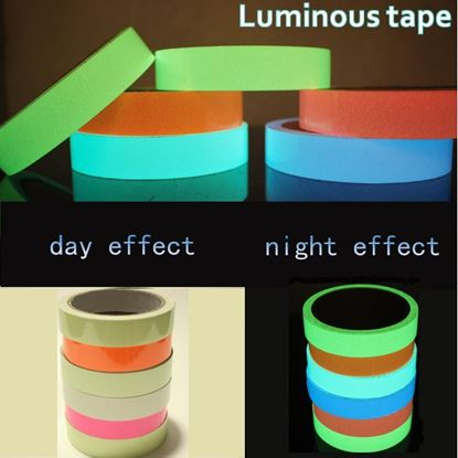 Picture of 3M Luminous Tape Self-adhesive Tape Night Vision Glow In Dark Safety Warning Security Stage Home Decoration Tapes