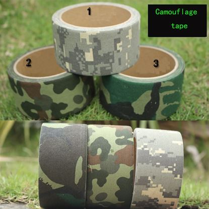 Picture of 5M/10M Camo Wrap Outdoor Hunting Bionic Tape Waterproof ACU Camouflage Hunting Gun Accessories 3Colors